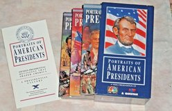 Vintage 1992 Portraits Of American Presidents VHS Box Set 3 Tapes + Booklet NBC in Plainfield, Illinois