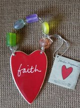 New with tag Department 56 red ceramin beaded heart in Camp Pendleton, California