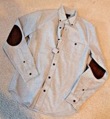 NWT - J.Crew Gray Cotton Heathered Shirting w/Suede Elbow Patches, X-Small in St. Charles, Illinois