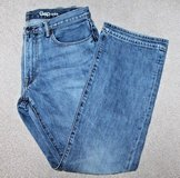 Men's GAP 1969 Boot Cut Medium Wash Faded Jeans, Zip Fly, 34x30 in St. Charles, Illinois