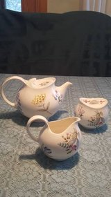 Rare 3 piece Halicraft Teapot, Creamer & Sugar Bowl Set in Bolingbrook, Illinois