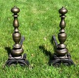 Vintage Fireplace Andirons Set in Naperville, Illinois