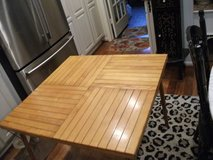 FOLDING ALL WOOD TABLE FROM TELESCOPE COMPANY in Lockport, Illinois