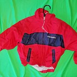official nfl houston texans red / blue wind breaker jacket child's 3t in Cleveland, Texas