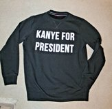 "Akira Chicago Red Label ""Kanye for President Sweatshirt, Black, Large in Bolingbrook, Illinois"