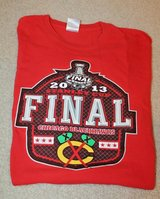 Chicago Blackhawks 2013 Stanley Cup Final SS Tee, Red Heavy Cotton Gildan, Large in Joliet, Illinois