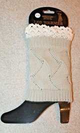 NWT -- Knit & Lace Leg Warmer/Boot-Toppers, Khaki Tan & Natural, Sm/Med in Chicago, Illinois