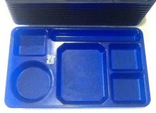 Blue cafeteria Lunch trays 6 compartment for camping Picnic Day-care school $2 each in Fort Campbell, Kentucky