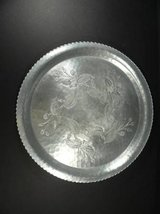 Wrought Farberware Round Hammered Aluminum Serving Tray Raspberries in Conroe, Texas