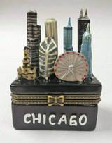Chicago Illinois Souvenir Figurine Trinket Skyline Pill Box in Aurora, Illinois