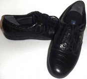 New! Sz 7.5 Easy Spirit Black Croc Leather Lace Up Shoes in Orland Park, Illinois