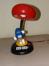 M&M Collectible Talking Desk Lamp Blue Peanut M&M Candy, Red M&M Shade in Westmont, Illinois