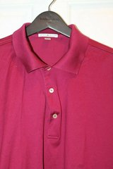 PETER MILLAR Claret Red Cotton Polo, Large -- EUC!! in Glendale Heights, Illinois