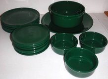17pc Waechtersbach / Spain Green Dinnerware Set Dishes / Plates / Bowl in Chicago, Illinois