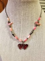 Cute double heart necklace in Camp Pendleton, California