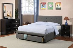 New! FULL or QUEEN Charcoal Bed Frame + Storage FREE DELIVERY in Camp Pendleton, California