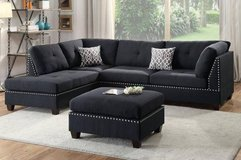 New! Linen Black Sectional + Ottoman FREE DELIVERY in Camp Pendleton, California