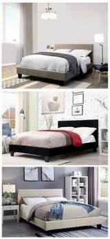 New! Sims Linen Gray QUEEN | FULL | C.KING Bed Frame DELIVERY in Camp Pendleton, California
