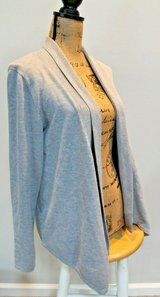 Gray Ribbed Accent Drape Cardigan by Fever, Medium in Westmont, Illinois