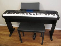 Casio 88 Key Digital Natural Piano Bundle w Stand, Bench **Warranty** in Naperville, Illinois