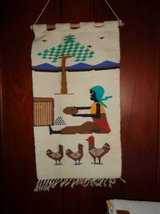 HANDWOVEN WALL HANGING: GIRL WITH CHICKENS in DeKalb, Illinois