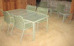 Patio Furniture Set - Table, 6 Chairs, 2 End Tables & 2 Foot Stools in Naperville, Illinois