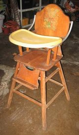 Vintage (maybe Antique) Wood High Chair in Yorkville, Illinois