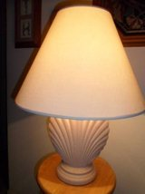 A pair of seashell table lamps in Camp Pendleton, California