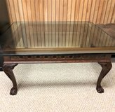 Ethan Allen Glass Top Coffee Table in Naperville, Illinois