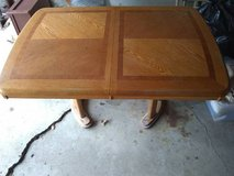 Solid Oak Table and Chairs (Add $40 for local delivery) in Naperville, Illinois