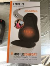 homedics mobile comfort hot cold travel cushion 3 level & setting massage new in Naperville, Illinois