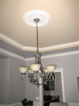 METROPOLITAN Solid Brass Chandelier - French Scavo Glass + 2 Sconces in Glendale Heights, Illinois
