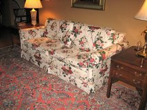 Floral Fabric Sofa Bed - Reupholstered in Bolingbrook, Illinois