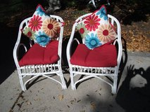 SET OF WHITE CAIN CHAIRS in Westmont, Illinois