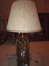 2 Oak and Glass Lamps in Palatine, Illinois