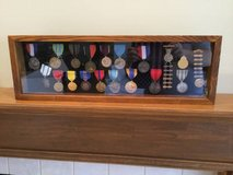 Display Case w/ 17 Medals and 2 NRA Pins in Naperville, Illinois