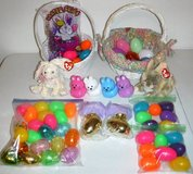 Set of 2 Easter Baskets ~ Eggs ~ Beanie Baby Bunny in Bolingbrook, Illinois