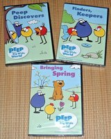 Easter NEW Peep and The Big Wide World DVD's Bringing Spring + peep Discovers + Finders Keepers ... in Joliet, Illinois