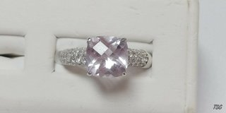 sterling silver 3.07ct  amethyst and 1.05ctw white zircons size 10 in Camp Lejeune, North Carolina