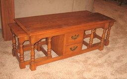 Solid Oak Nesting Coffee Table with 2 Side Tables in Lockport, Illinois