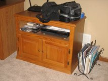 Oak TV Cabinet with Component/Cable Box Shelf in Naperville, Illinois