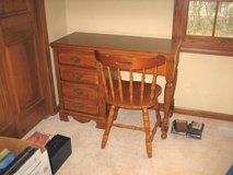 Small Wood Desk - Laminate Top + Chair in Bolingbrook, Illinois
