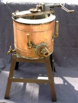 "22"" Antique Copper Hand Crank Double Boiler on Stand in Bartlett, Illinois"
