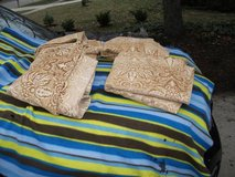 REDUCED.....CURTAINS GOLD / CREAM BROCADE EVANDALE in Naperville, Illinois