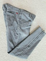 Lucky Brand Black Charlie Super Skinny Denim Jeans, Zipper Detail, Size 4/27 in in Bolingbrook, Illinois