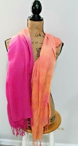 Perfect for Spring -- Women's Oversized Saachi Rayon Scarf in Pink & Orange in Westmont, Illinois