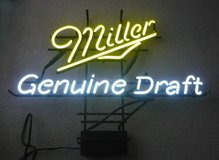 Miller Genuine Draft Neon Beer Sign in Bartlett, Illinois