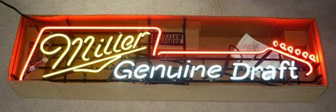 Miller Genuine Draft Guitar Neon Beer Sign in Bartlett, Illinois
