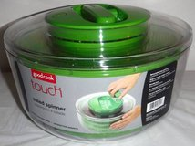 New! Good Cook Touch Salad Spinner Clear w/Green Accents BPA Free in Chicago, Illinois