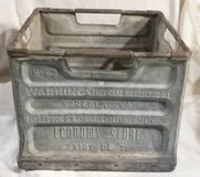 Vintage Pinkerton Metal Milk Crate in Westmont, Illinois